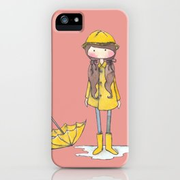 Time for Rain (white background) iPhone Case