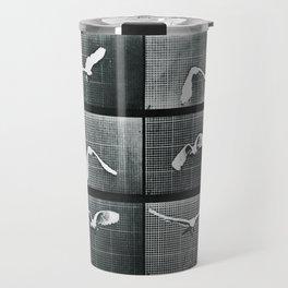 Time Lapse Motion Study Bird Monochrome Travel Mug