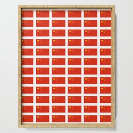 flag of china -中国,chinese,han,柑,Shanghai,Beijing,confucius,I Ching,taoism. Serving Tray