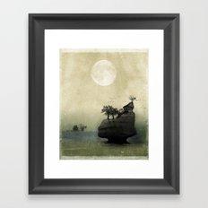 Far Away Fantasy Landscape Framed Art Print