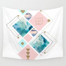 Good vibes geometric Wall Tapestry