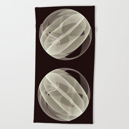 Modern Magic 3D Sphere Beach Towel