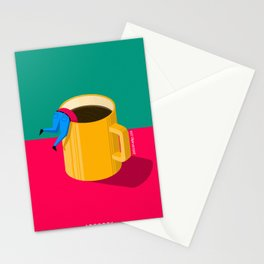 i need a coffee Stationery Cards