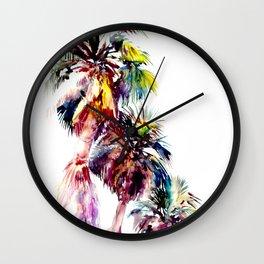Desert Palm Trees, Southwestern tropical Palms Wall Clock