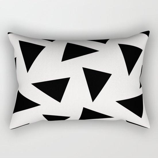 black triangle pattern II Rectangular Pillow