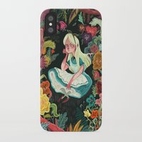 alice wonderland iPhone & iPod Cases featuring Alice in Wonderland by Karl James Mountford