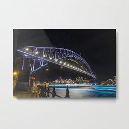 Vivid Sydney Harbour Bridge 2017_02 Metal Print