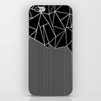 Ab Lines Black iPhone & iPod Skin