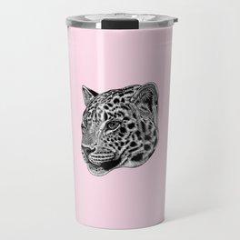 Amur leopard cub - pink - big cat Travel Mug