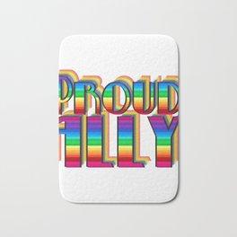 LGBT ALLY Rainbow Gay Pride Bath Mat