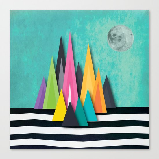 Prison Stripe Mountains Canvas Print
