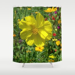 FIELD OF HAPPINESS Shower Curtain