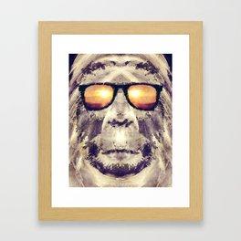 Bigfoot In Shades Framed Art Print