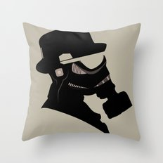 Storm Trooper Gas Mask  Throw Pillow