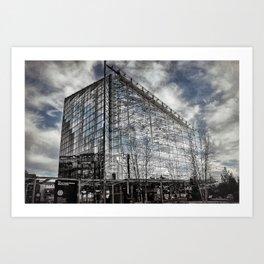 Baltimore [Sky cut 448] Maryland, Usa Art Print