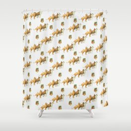 CHRISTMAS DOGS PATTERN Shower Curtain