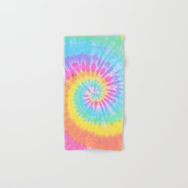 Rainbow Tie Dye Hand & Bath Towel