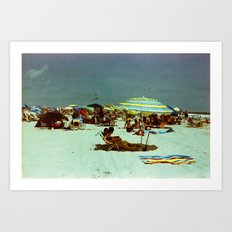 Beach, Wildwood, New Jersey Art Print