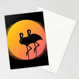 Flamingo Sunset Stationery Cards