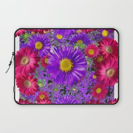 FUCHSIA-PURPLE ASTERS FLOWERS GARDEN Laptop Sleeve