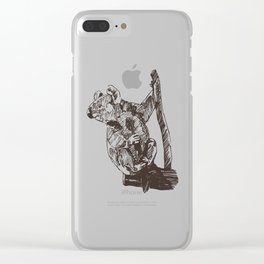 Koala Sanctuary Clear iPhone Case