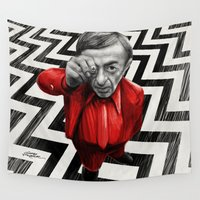 lynch Wall Tapestries featuring Homage to Twin Peaks - Fire walk with me by Giorgio Finamore