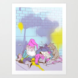 Gnomeless Art Print