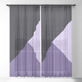 Trinity Color Block Ultra Violet Sheer Curtain