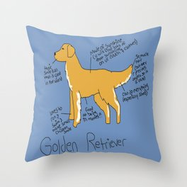 Golden Retreiver Throw Pillow
