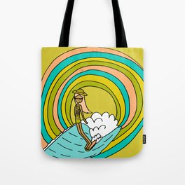 the path to groovy // lady slide by surfy birdy Tote Bag