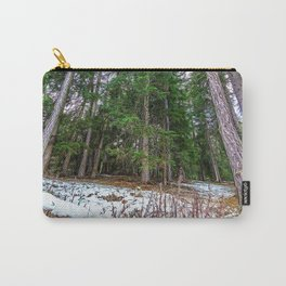 Snowy path in the woods on the Alps in winter Carry-All Pouch