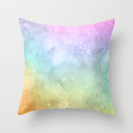 Beautiful watercolor background space with splatters Colorful smoke Throw Pillow