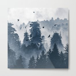 Amazing Forest Morning Nature Photography Metal Print