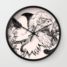 The Woman and Eagle Wall Clock