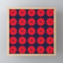Japanese Samurai flower red pattern by annaki