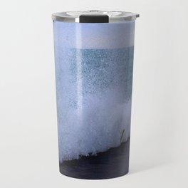 Lake Michigan Natural Fountains #1 (Chicago Waves Collection) Travel Mug