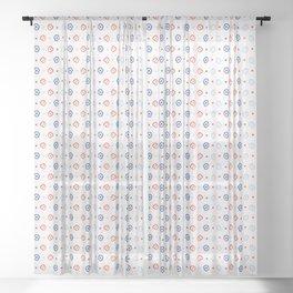 Stylized Flower Basket Seamless Pattern Sheer Curtain
