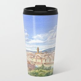 Florece watercolor Metal Travel Mug