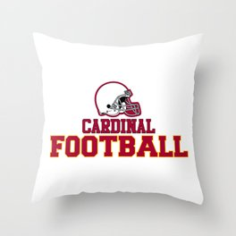 Football in Red Throw Pillow