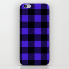 Midnight Blue and Black Buffalo Plaid iPhone Skin