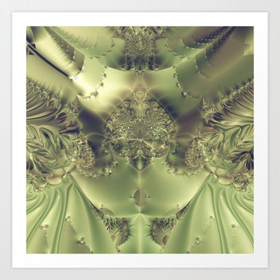 Metallic Curtain Art Print