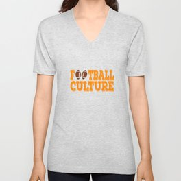 """""""Football Culture"""" tee design for sports lovers out there! Perfect gift this seasons of giving too!  Unisex V-Neck"""