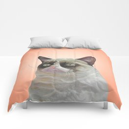 grumpy-cat-Orange Comforters