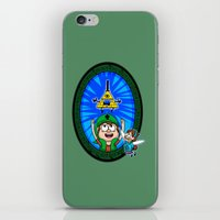 gravity falls iPhone & iPod Skins featuring Gravity Falls: Hyrule Falls by Macaluso