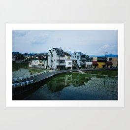 Kyoto Suburb Art Print