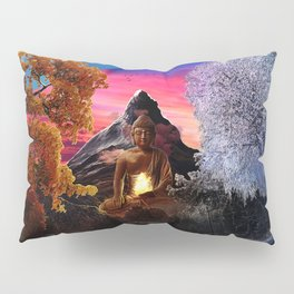 X . The Wheel Tarot Card Illustration Pillow Sham