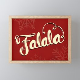 Falala - Red Framed Mini Art Print
