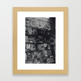 Books! Framed Art Print