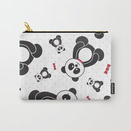 Panda Freefall (Black, White, Red) Carry-All Pouch