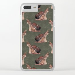Snail Pattern Clear iPhone Case